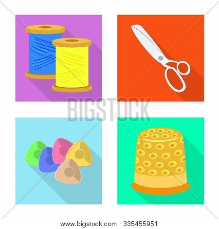 Isolated Object Of Craft And Handcraft Symbol. Set Of Craft And Industry Vector Icon For Stock.