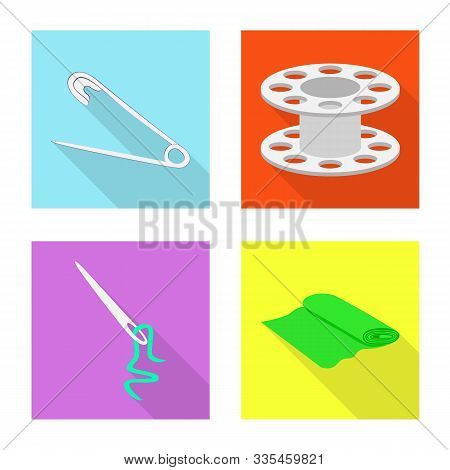Vector Illustration Of Craft And Handcraft Icon. Set Of Craft And Industry Stock Symbol For Web.