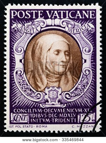 Vatican City - Circa 1946: A Stamp Printed In Vatican City From The