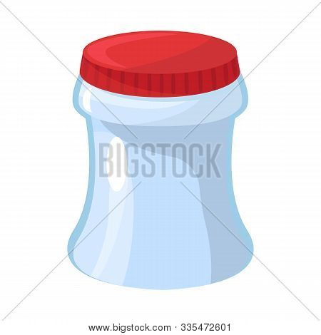 Vector Illustration Of Container And Soda Icon. Set Of Container And Nonalcoholic Stock Symbol For W