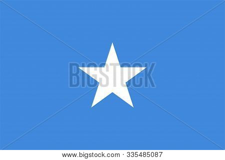 The Original Flag Of Somalia,vector Illustration The Color Of The Original, Official Colors And Prop