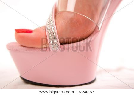 Red Female Toes And Pink Heels
