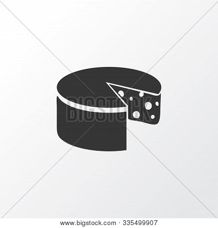 Cheddar Icon Symbol. Premium Quality Isolated Cheese Element In Trendy Style.
