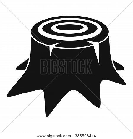 Tree Stump Icon. Simple Illustration Of Tree Stump Vector Icon For Web Design Isolated On White Back