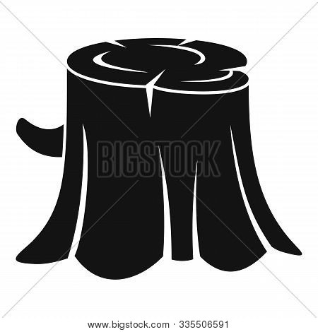 Forest Tree Stump Icon. Simple Illustration Of Forest Tree Stump Vector Icon For Web Design Isolated