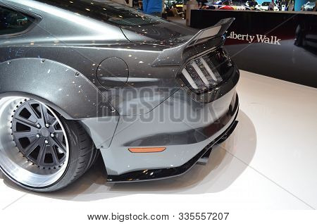 Geneva, Switzerland, March 06-2018: Ford Mustang Gt Lbperformance At Gims