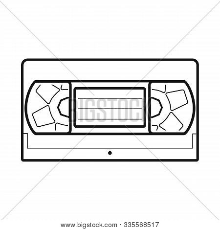 Vector Illustration Of Videotape And Videocassette Logo. Graphic Of Videotape And Reel Vector Icon F
