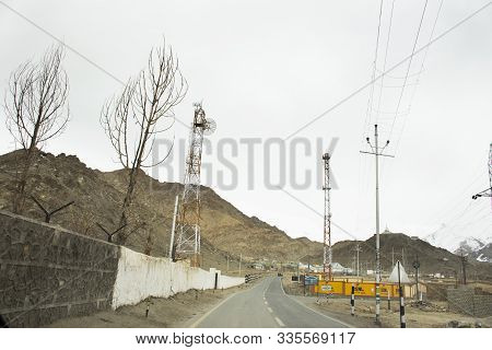 Jammu Kashmir, India - March 21 : Road And Street For People And Foreigner Travelers Use To Shanti S