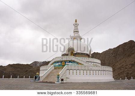 Shanti Stupa On A Hilltop In Chanspa For Tibetan People And Travelers Foreigner Travel Visit And Res