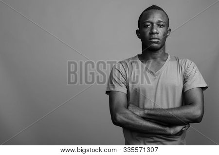 Portrait Of Young African Man In Black And White