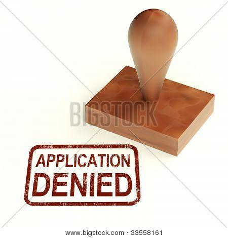 Application Denied Stamp Shows Loan Or Visa Rejected