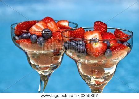 Glasses Of Freshberries