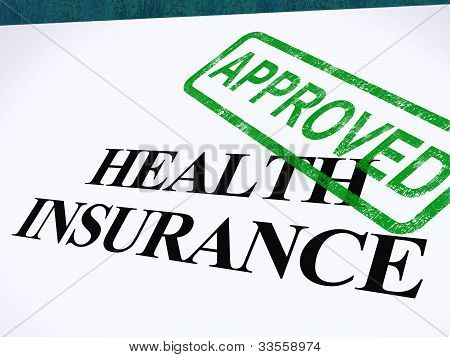 Health Insurance Approved Form Shows Successful Medical Application