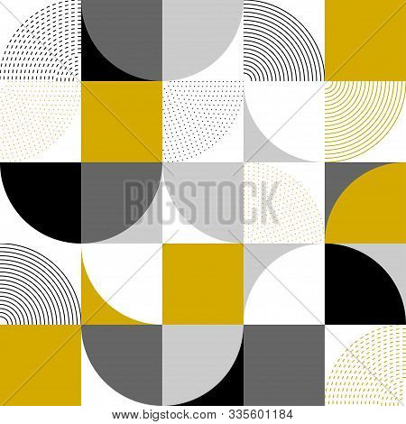 Abstract Background Of Different Geometric Shapes. Abstract Background In Modern Simple Flat Design.