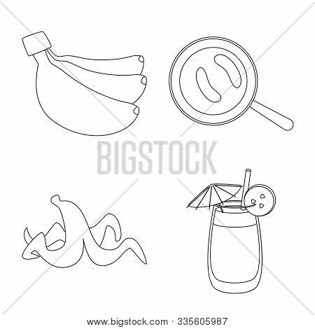 Isolated Object Of Organic And Potassium Icon. Collection Of Organic And Diet Vector Icon For Stock.