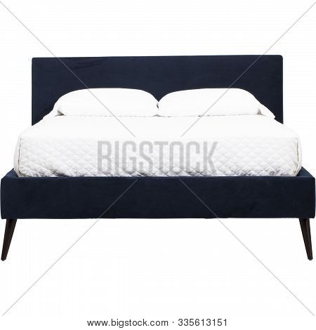 Palazzo Queen Size Bed With White Mattress, Low Profile Bed Frame Low Profile Queen, Tufted Bed Fram