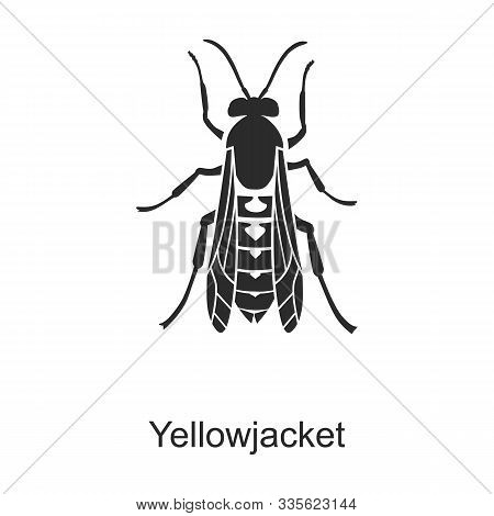 Insect Yellowjacket Vector Icon.black Vector Logo Isolated On White Background Insect Yellowjacket.