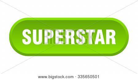 Superstar Button. Superstar Rounded Green Sign. Superstar