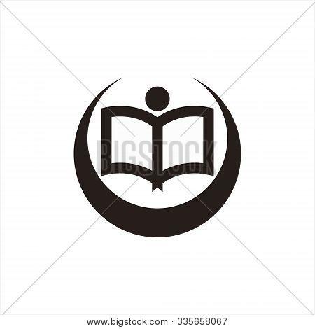 Human Book Education Logo Icon Vector Template