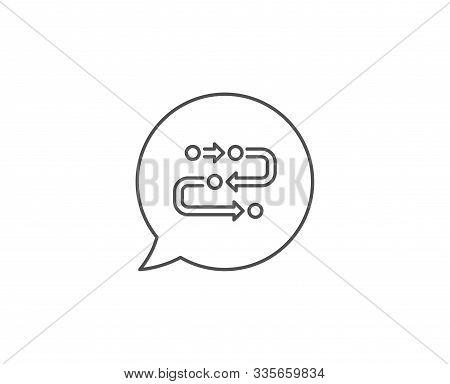 Methodology Line Icon. Chat Bubble Design. Development Process Sign. Strategy Symbol. Outline Concep