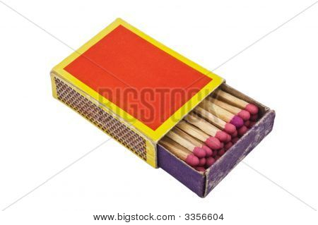 Matchbox isolated on white background with clipping path. poster