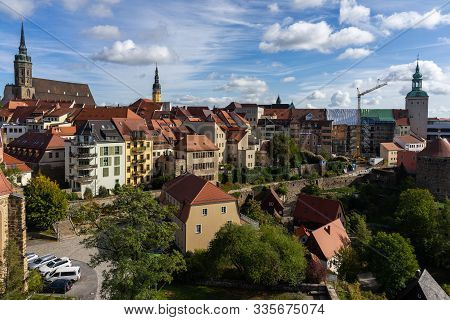 Bautzen, Germany - October 10, 2019: View On Historical Center Of The Town From The Height Of The Ol