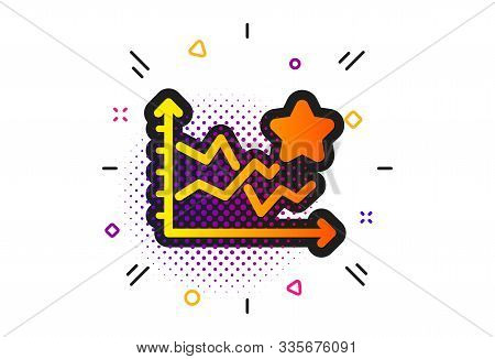 Stars Rating Sign. Halftone Circles Pattern. Ranking Star Icon. Best Stats Rank Symbol. Classic Flat