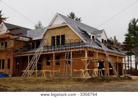 A New Custom Home Under Construction