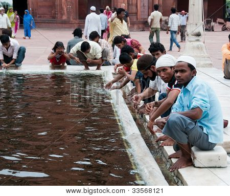 Ablution In Jama Masjid, India's Largest Mosque