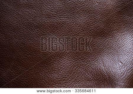 Genuine Full Grain Cow Leather Texture