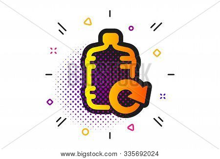 Refill Aqua Drink Sign. Halftone Circles Pattern. Water Cooler Bottle Icon. Liquid Symbol. Classic F