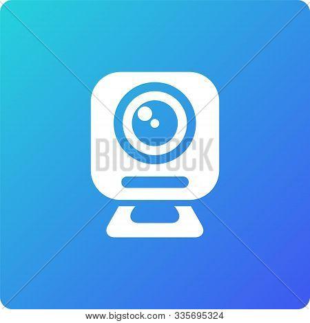 Web Camera Vector Icon. Web Camera Single Web Icon On Trendy Gradient