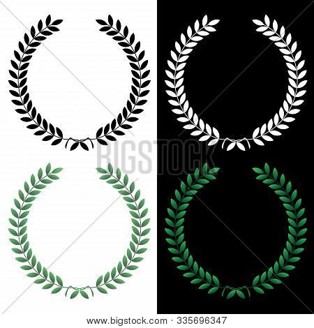 Vector, Wreath, Background, Leaf, Graphic, Branch, Floral, Element, Decorative, Plant, Holiday, Natu