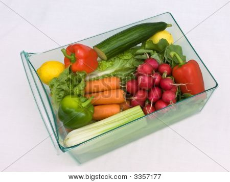 Refrigerator Vegetable Drawer One