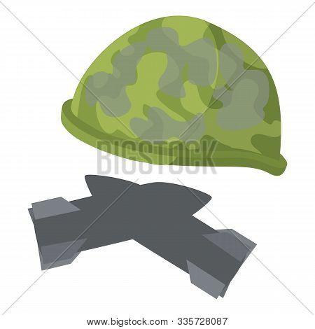 Military Paraphernalia Icon. Isometric Illustration Of Military Paraphernalia Vector Icon For Web