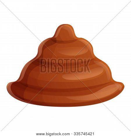 Cocoa Bonbon Icon. Cartoon Of Cocoa Bonbon Vector Icon For Web Design Isolated On White Background