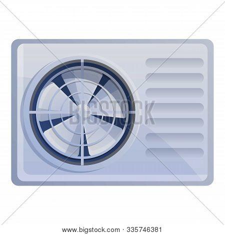 Air Conditioner Ventilator Icon. Cartoon Of Air Conditioner Ventilator Vector Icon For Web Design Is