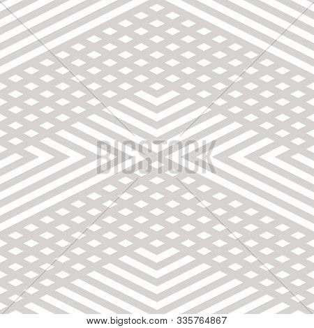 Vector Geometric Lines Seamless Pattern. Modern Linear Texture With Diagonal Stripes, Broken Lines,