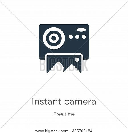 Instant Camera Icon Vector. Trendy Flat Instant Camera Icon From Free Time Collection Isolated On Wh