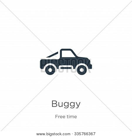 Buggy Icon Vector. Trendy Flat Buggy Icon From Free Time Collection Isolated On White Background. Ve