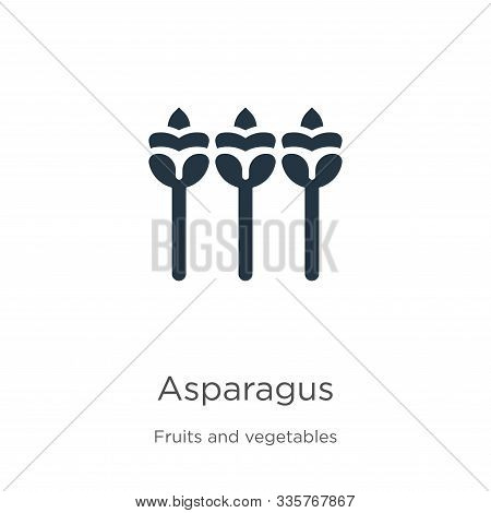 Asparagus Icon Vector. Trendy Flat Asparagus Icon From Fruits Collection Isolated On White Backgroun