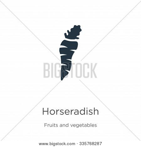 Horseradish Icon Vector. Trendy Flat Horseradish Icon From Fruits Collection Isolated On White Backg