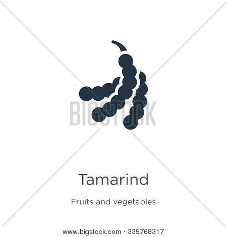 Tamarind Icon Vector. Trendy Flat Tamarind Icon From Fruits Collection Isolated On White Background.