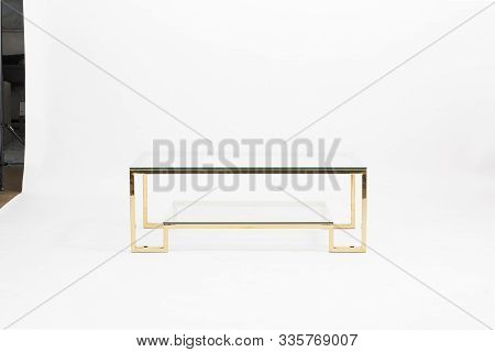 Square Clear Acrylic Modern Coffee Table , Waterfall Glass Coffee Table Vintage Glass Waterfall Coff