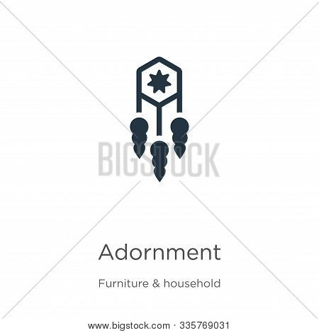 Adornment Icon Vector. Trendy Flat Adornment Icon From Furniture And Household Collection Isolated O