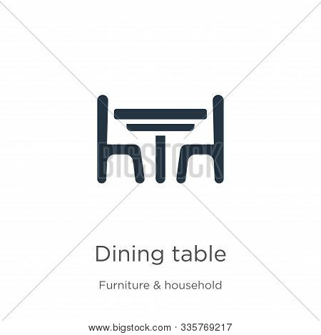 Dining Table Icon Vector. Trendy Flat Dining Table Icon From Furniture And Household Collection Isol