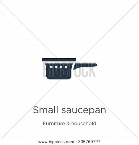 Small Saucepan Icon Vector. Trendy Flat Small Saucepan Icon From Furniture And Household Collection