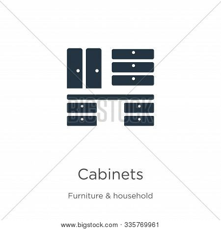 Cabinets Icon Vector. Trendy Flat Cabinets Icon From Furniture And Household Collection Isolated On