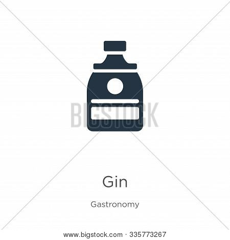 Gin Icon Vector. Trendy Flat Gin Icon From Gastronomy Collection Isolated On White Background. Vecto