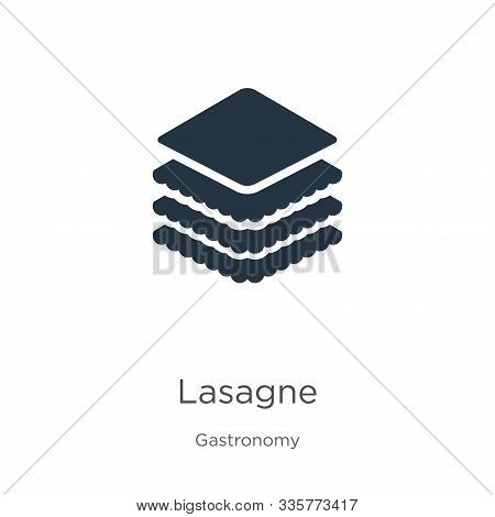 Lasagne Icon Vector. Trendy Flat Lasagne Icon From Gastronomy Collection Isolated On White Backgroun